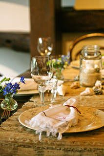 「ボストンお料理教室」「cooking class」「人気」「Sullivans Market」「Yoshiko Sullivan」「夏」「summer」「貝」「shell」「流木」「driftwood」「ろうそく」「candle」「網」「net」「瓶」「jar」「箱根」「Hakone」「やまぼうし」「napkin」「ナプキン」「napkin ring」「ナプキンリング」